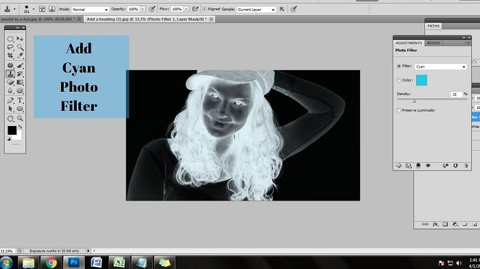 Change photo into xray in Photoshop
