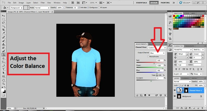 Change the color of clothes using Photoshop