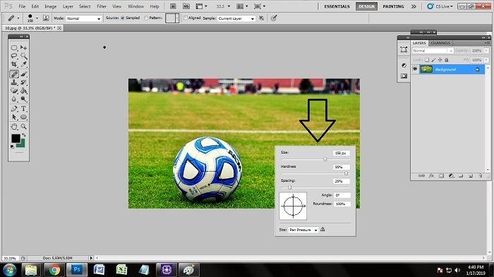 Remove unwanted object Using Photoshop