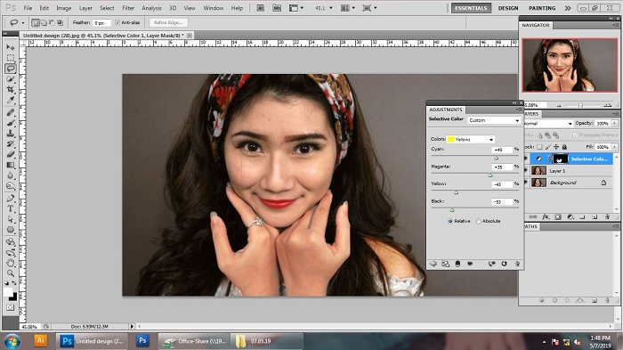 How to Match Skin in Photoshop Guide