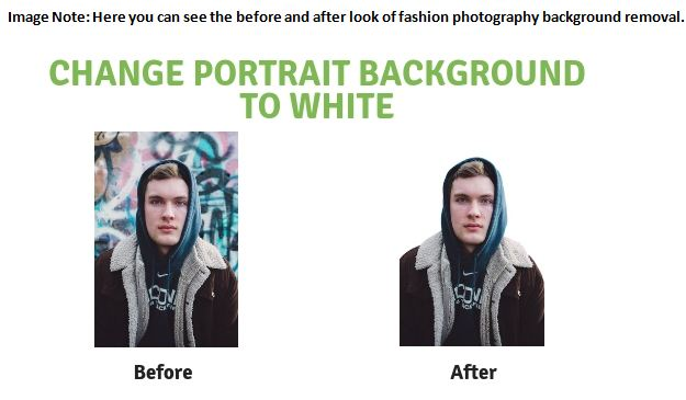 Change background to white of Portrait Photography