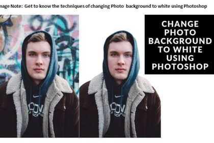 Change Background to White Using Photoshop