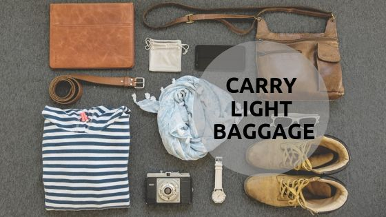 Baggage and tips for travel photography