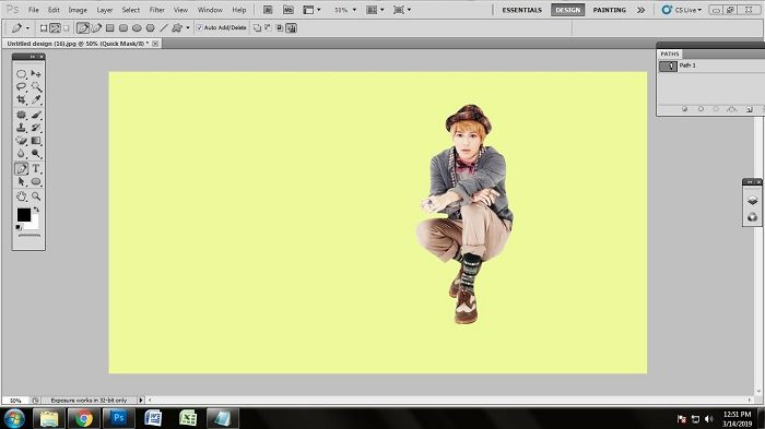 how to remove white background from jpg in Photoshop CS5