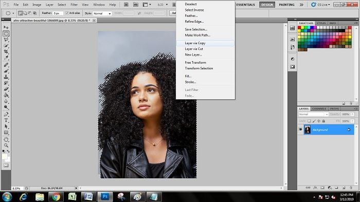 Photoshop CS5 Hair Masking Technique