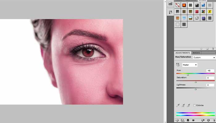 Beginners guide on changing eye color in Photoshop