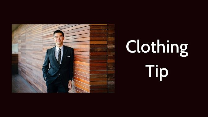 Clothing tips for business portrait