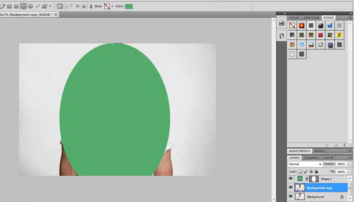 Step-by-step process of Clipping Mask