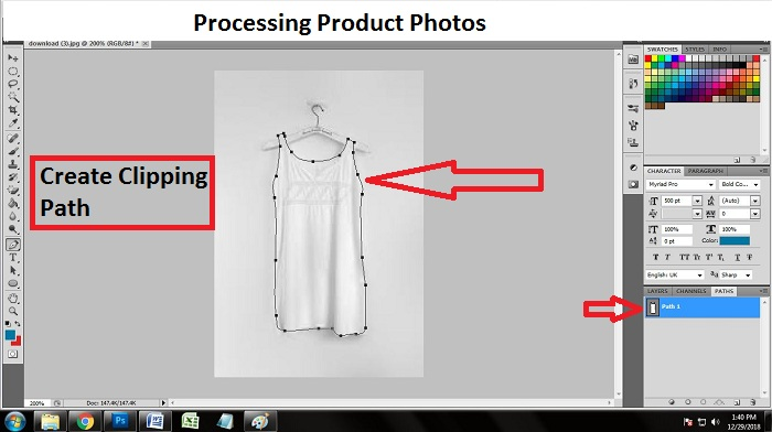 How to process product photos in Photoshop