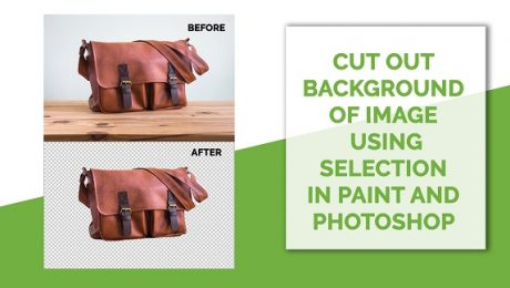 Cut out background of image using selection in Paint and Photoshop