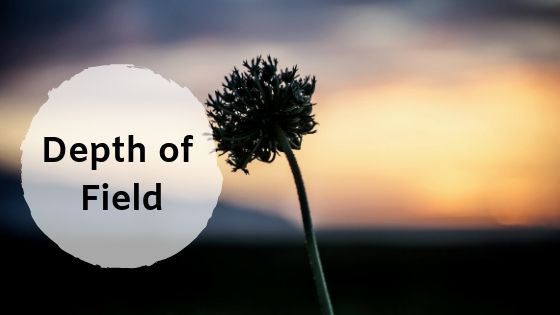 The depth of field effect using aperture