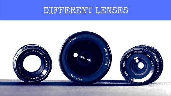 Different lenses for wedding image click