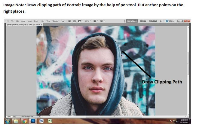 Clipping Path of Portrait Photography