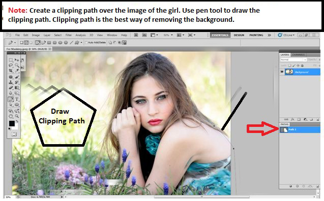 Draw Clipping Path
