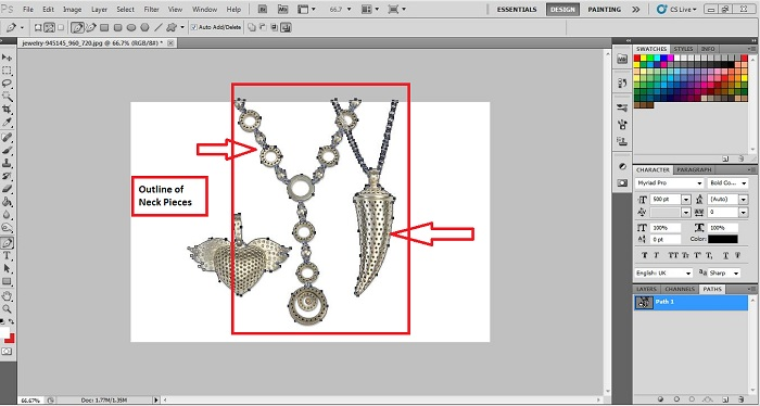 How to Remove the Background of Jewelry in Phoshoap