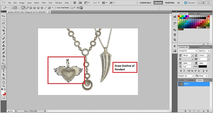 Photoshop Jewelry Background Removal