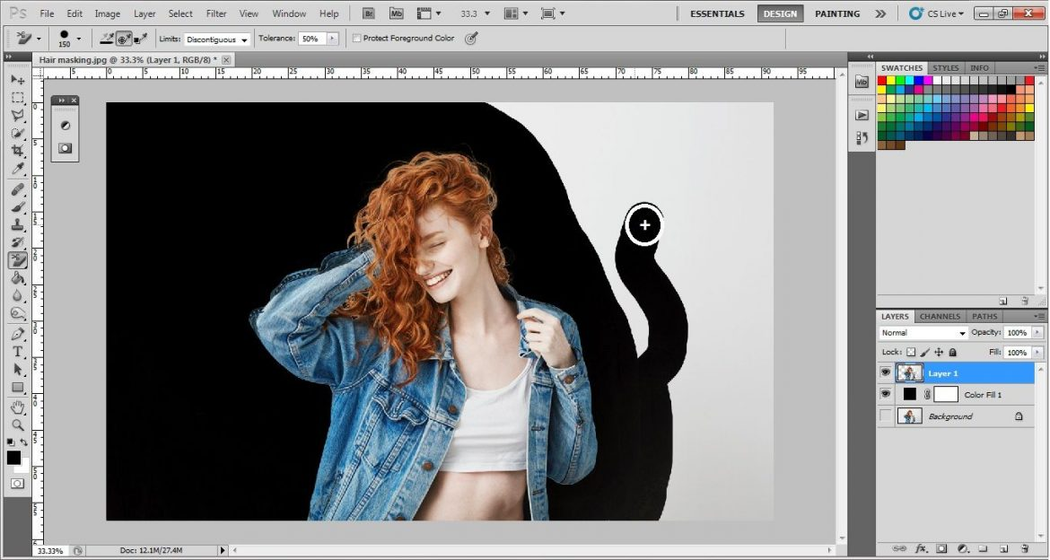 Mask out hair in Photoshop