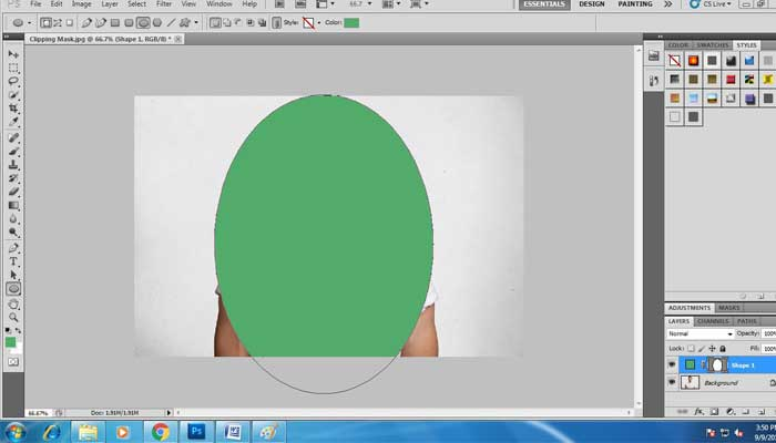 How to do Clipping Mask in Photoshop CS3