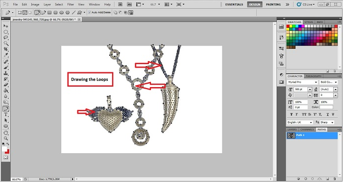 How to Edit Jewelry Photo in Photoshop