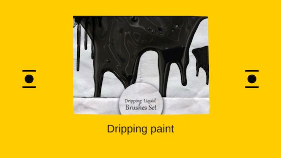 Dripping paint brush
