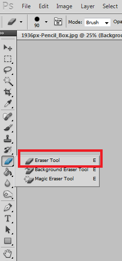 How to remove background with Eraser Tool