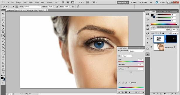 Photoshop Eye Color Changing Tutorial