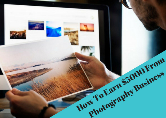 How to earn money from photography
