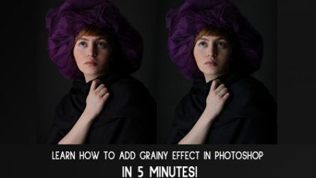 How to add grainy effect in photoshop
