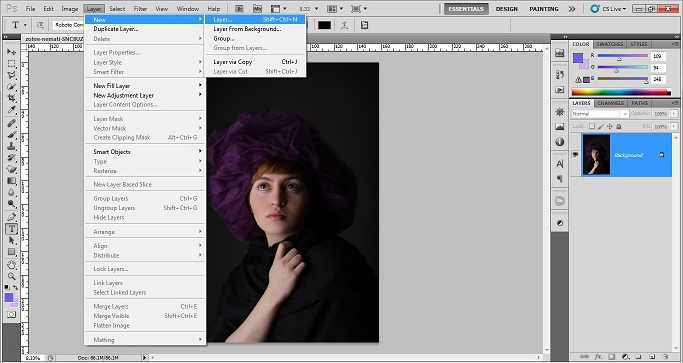 How to add grainy effect using photoshop CS5