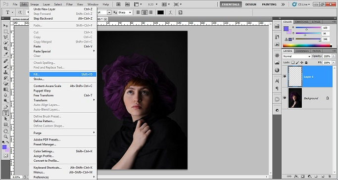How to add grainy effect using photoshop