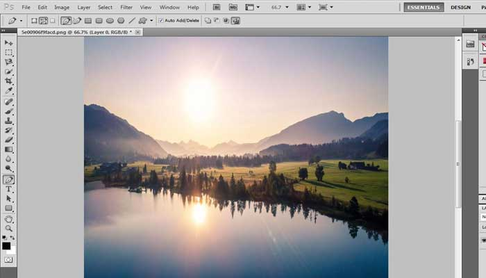 How to make tiny planet in Photoshop Tutorial
