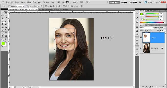 Beginners Guide on How to swap face in photoshop