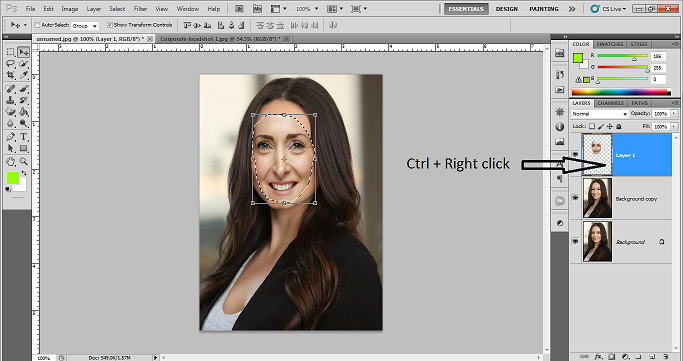 How to swap face in photoshop CS5