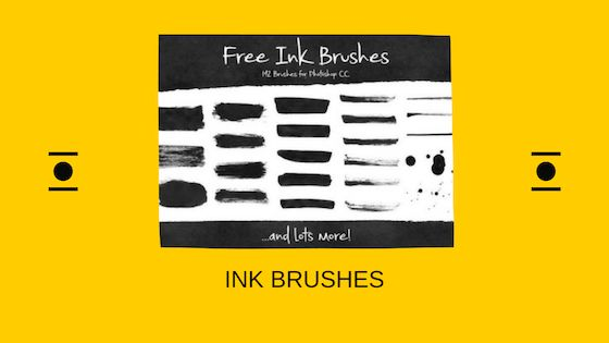 Ink brushes Photoshop