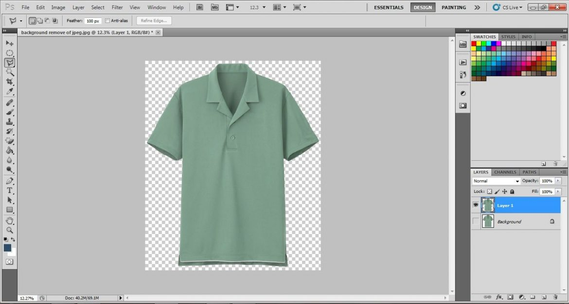 delete photo background in photoshop cs5