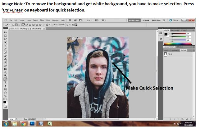 How to Get white background in Photoshop