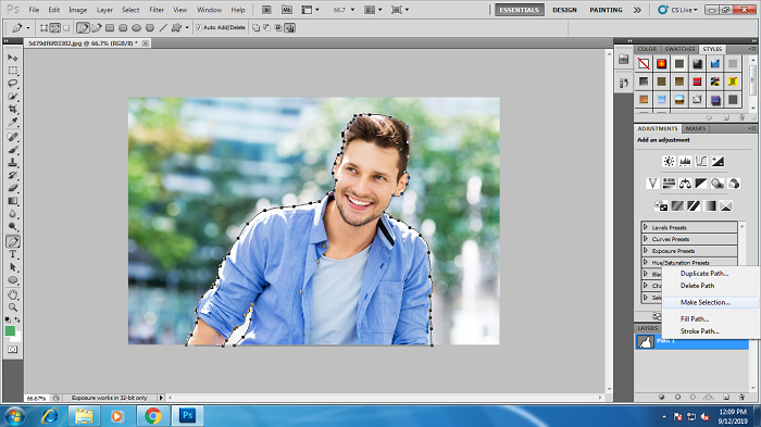 How to do Photoshop Clipping Path in Photoshop CS3