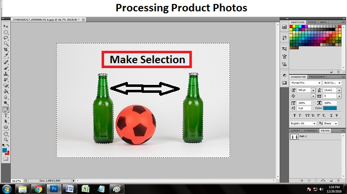 How to edit product photos using Photoshop