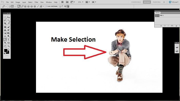 Trick of removing white background from jpg in Photoshop