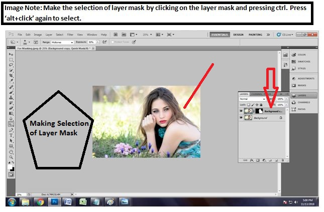 How to mask hair in Photoshop cs5 in 2018