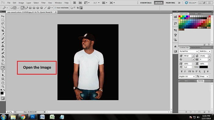 Change the dress color in Photoshop