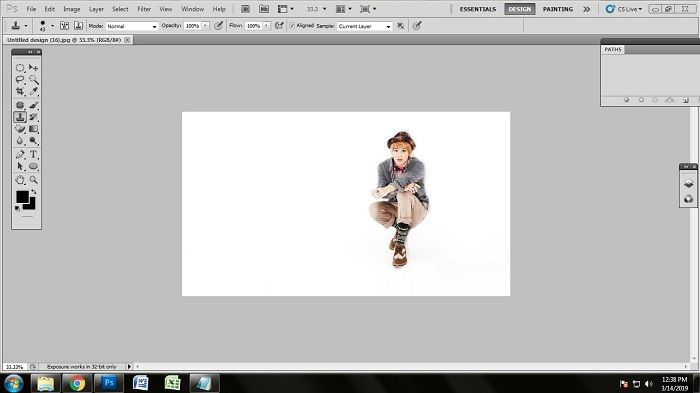 Technique of removing white background from jpg in Photoshop
