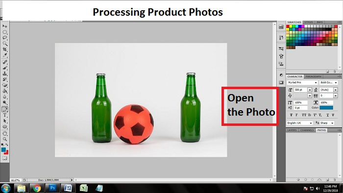 Processing Product Photos in Photoshop