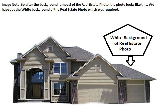 Real estate image color change after