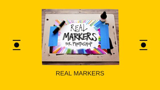 Real markers Photoshop brushes