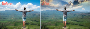 Replacing Sky Before After