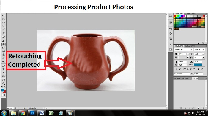 How to process product photo in Photoshop CS5