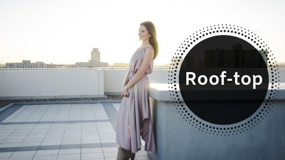 Roof top location for fashion photography