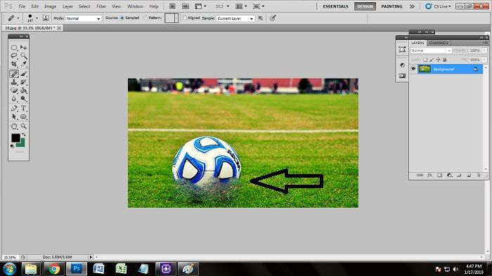 How to Remove Unwanted Object in Photoshop CS3