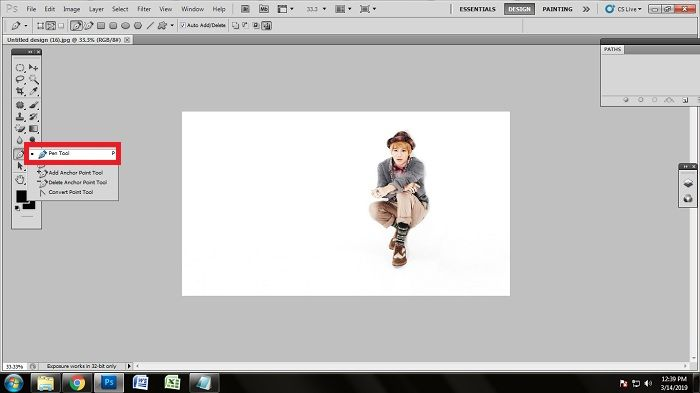 How to remove white background of jpg using Photoshop
